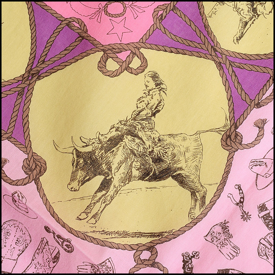 RDC9049 Hermes Cowgirl Scarf close up