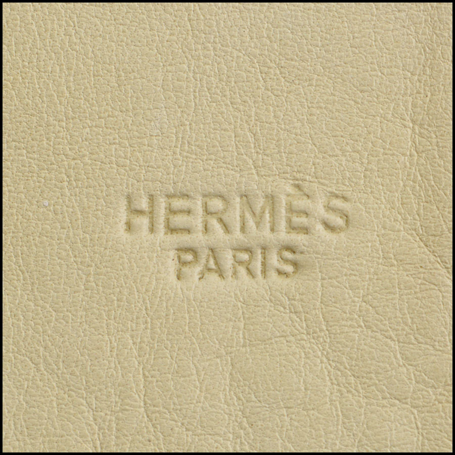 RDC8895 Hermes Falcon Painting on Goatskin Leather Hide tag