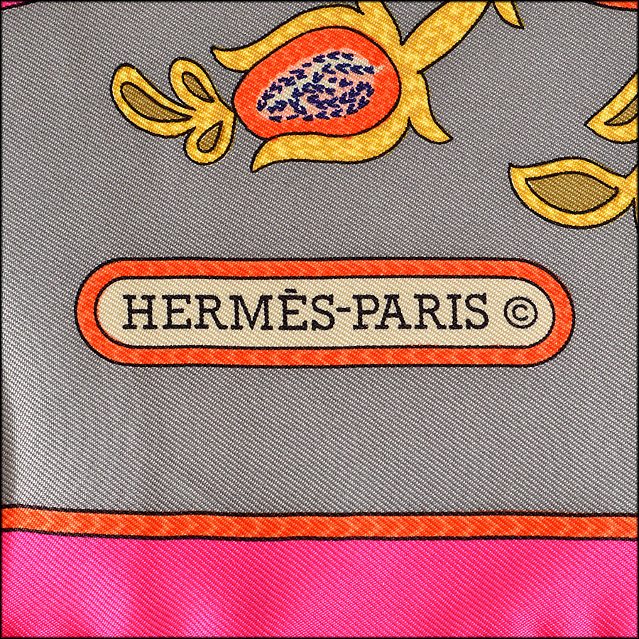 Hermes India 90cm Silk Twill Scarf logo