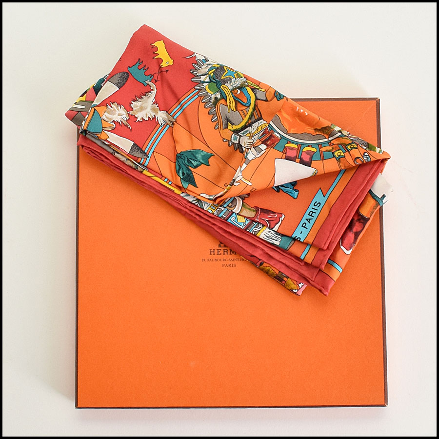 RDC9373 Hermes Kachinas Scarf includes