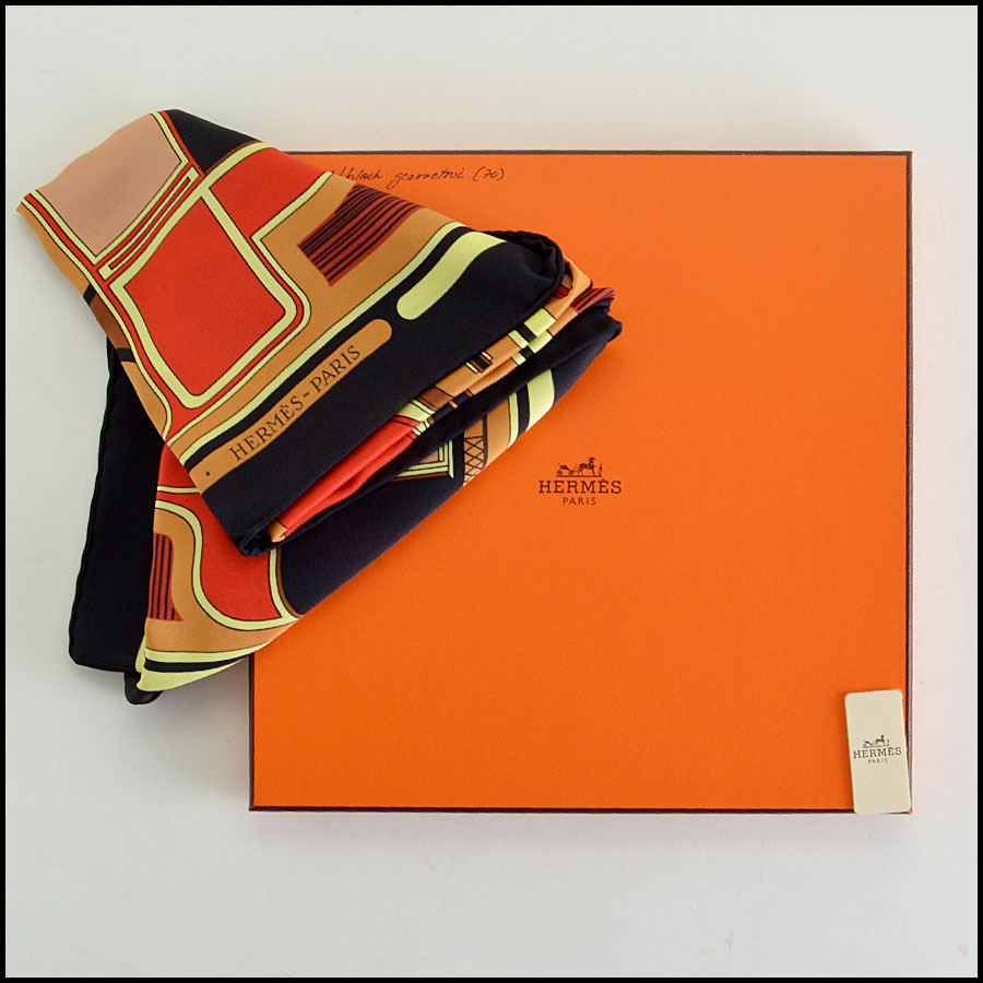 Hermes Le Coupes 70cm Vintage Silk Scarf Comes With