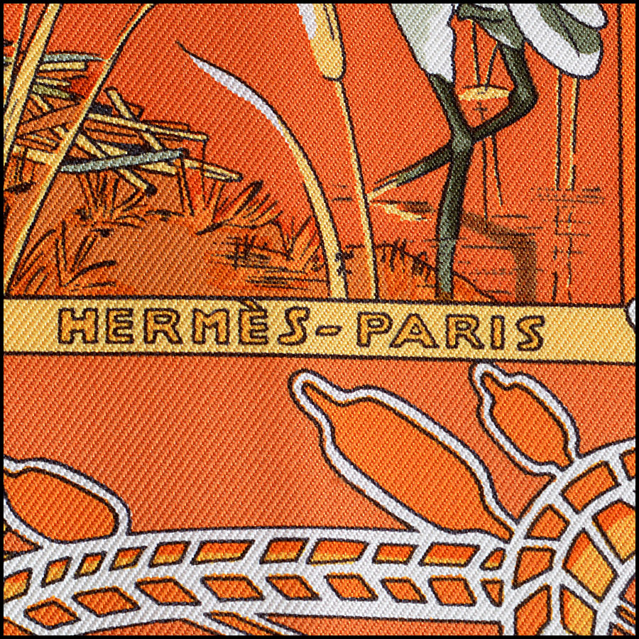 Hermes Libres Comme L'Air Silk Scarf Logo