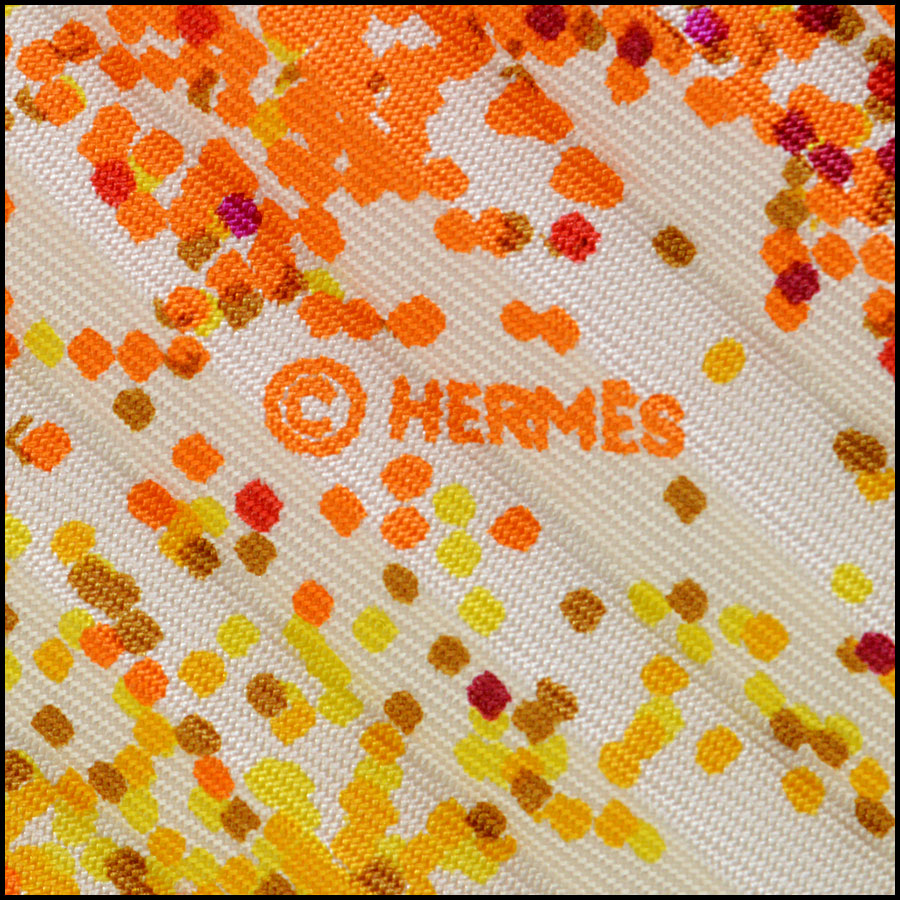 Hermes Hermes Indian Dust Pleated Scarf folded
