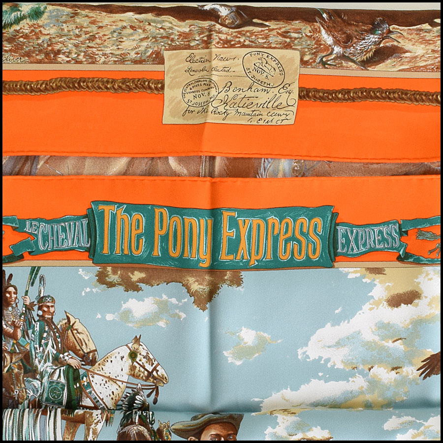 RDC9248 Hermes pony express scarf title