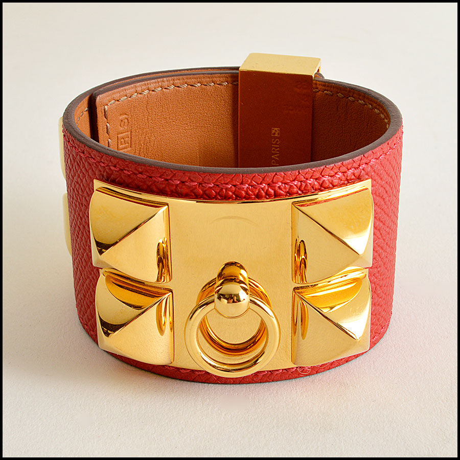 RDC7923 Hermes Red Epsom Leather CDC Cuff