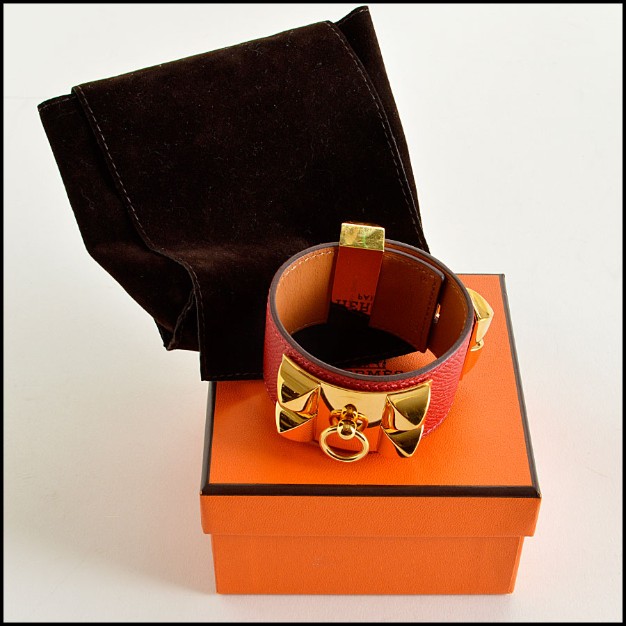 RDC7923 Hermes Red Epsom Leather CDC Cuff extras