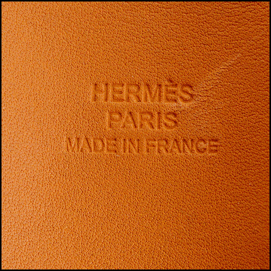 RDC7923 Hermes Red Epsom Leather CDC Cuff tag 2