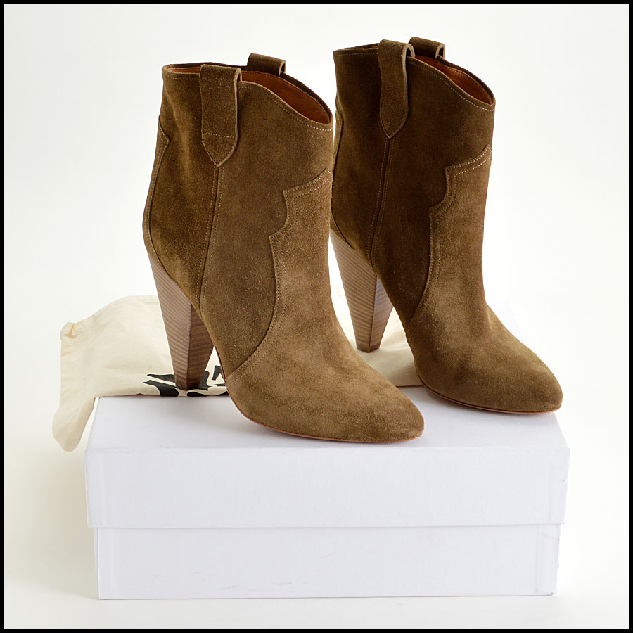 RDC7898 Isabel Marant Brown Suede booties