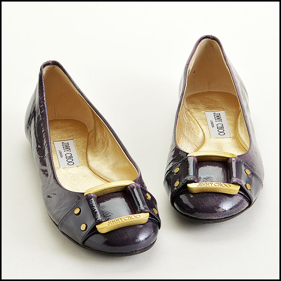 RDC7756 Jimmy Choo Patent Leather Morse Flats