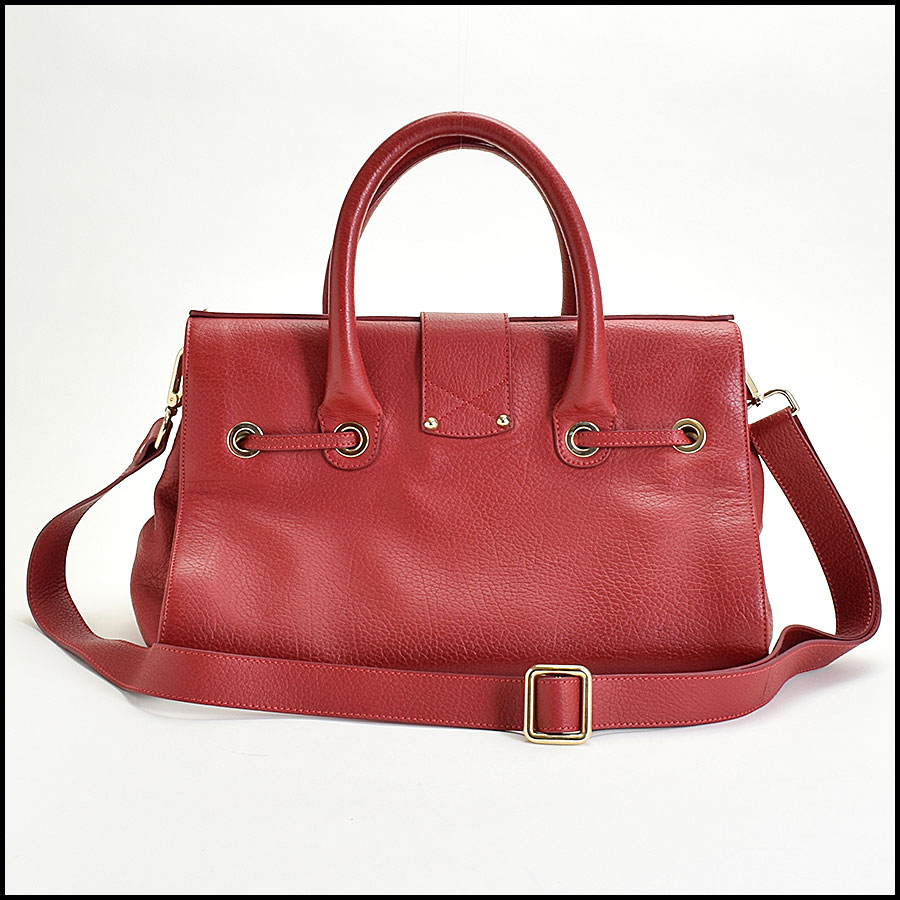 RDC9696 Jimmy Choo Red Calfskin Rosalie Satchel back