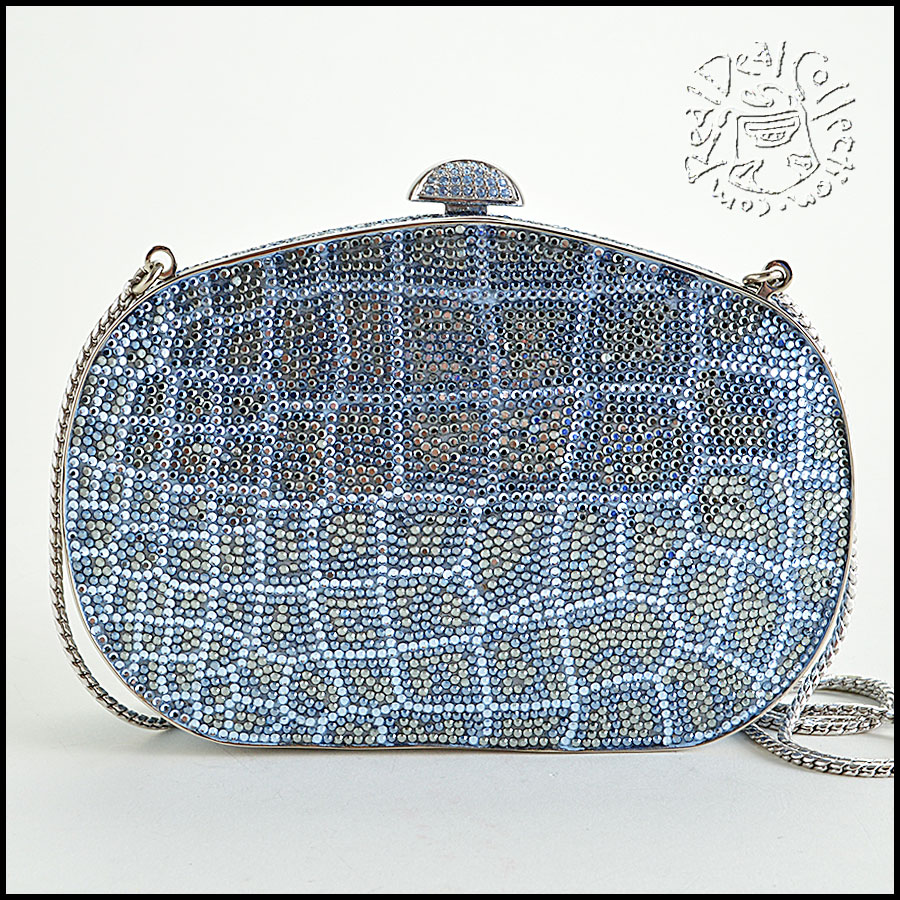 Judith Leiber Blue and Clear Minaudiere image