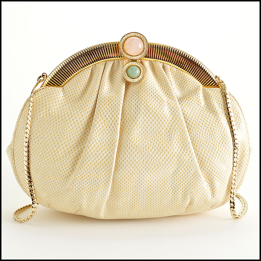 Judith Leiber Vintage Ivory Evening Bag image