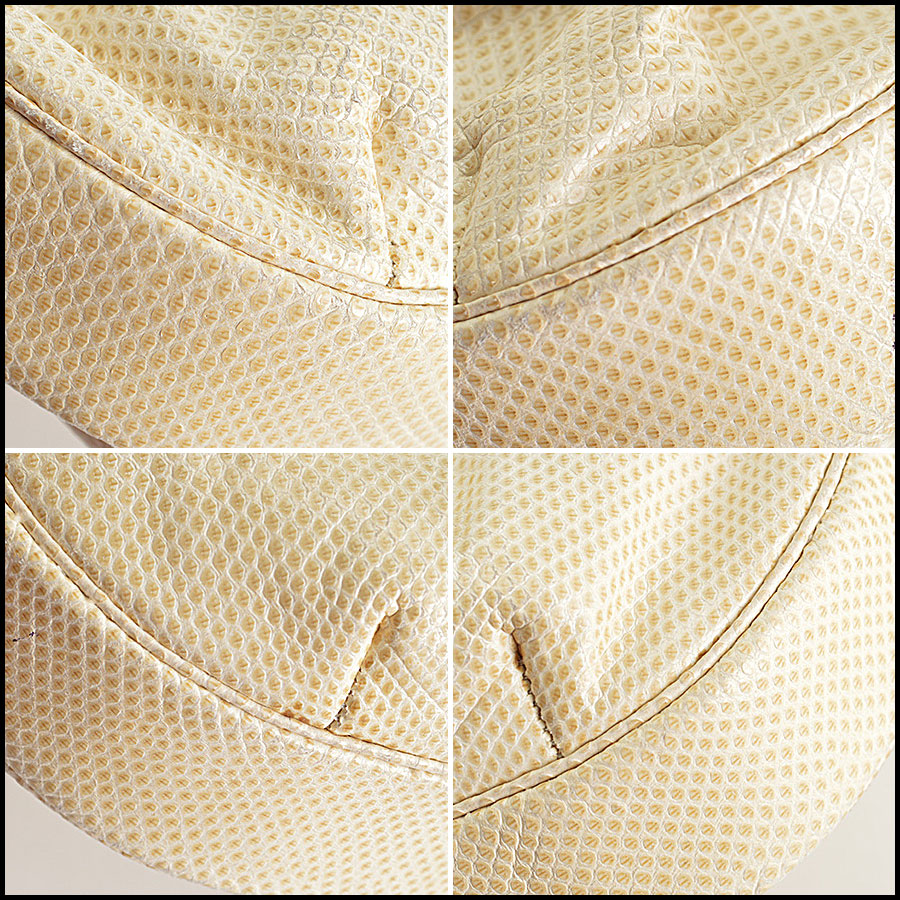 Judith Leiber Vintage Ivory Evening Bag corners