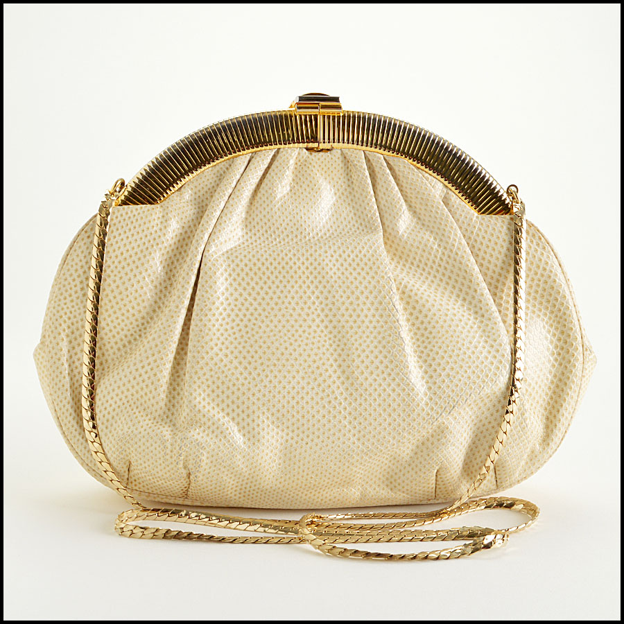 Judith Leiber Vintage Ivory Evening Bag back