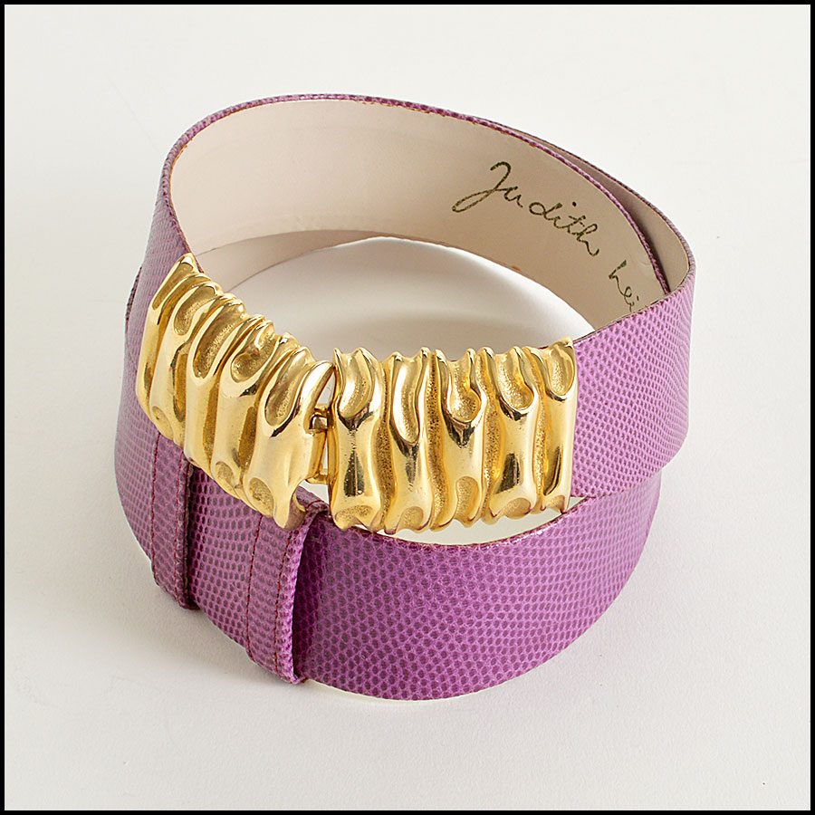 RDC7532 Judith Leiber Purple Lizard  Belt