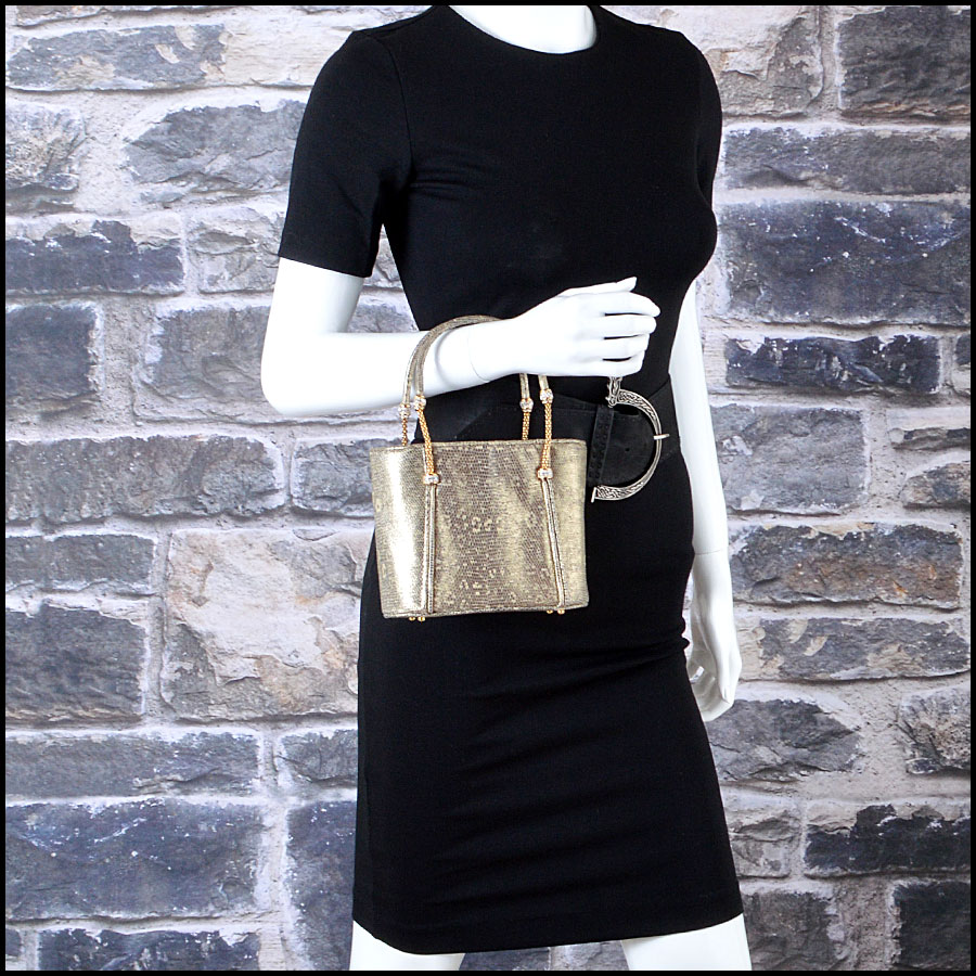 Judith Leiber Vintage Ringtail Mini Tote Mannequin