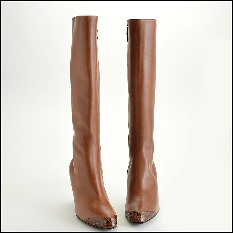 RDC7715 Jil Sander Knee High Cap Toe Boots