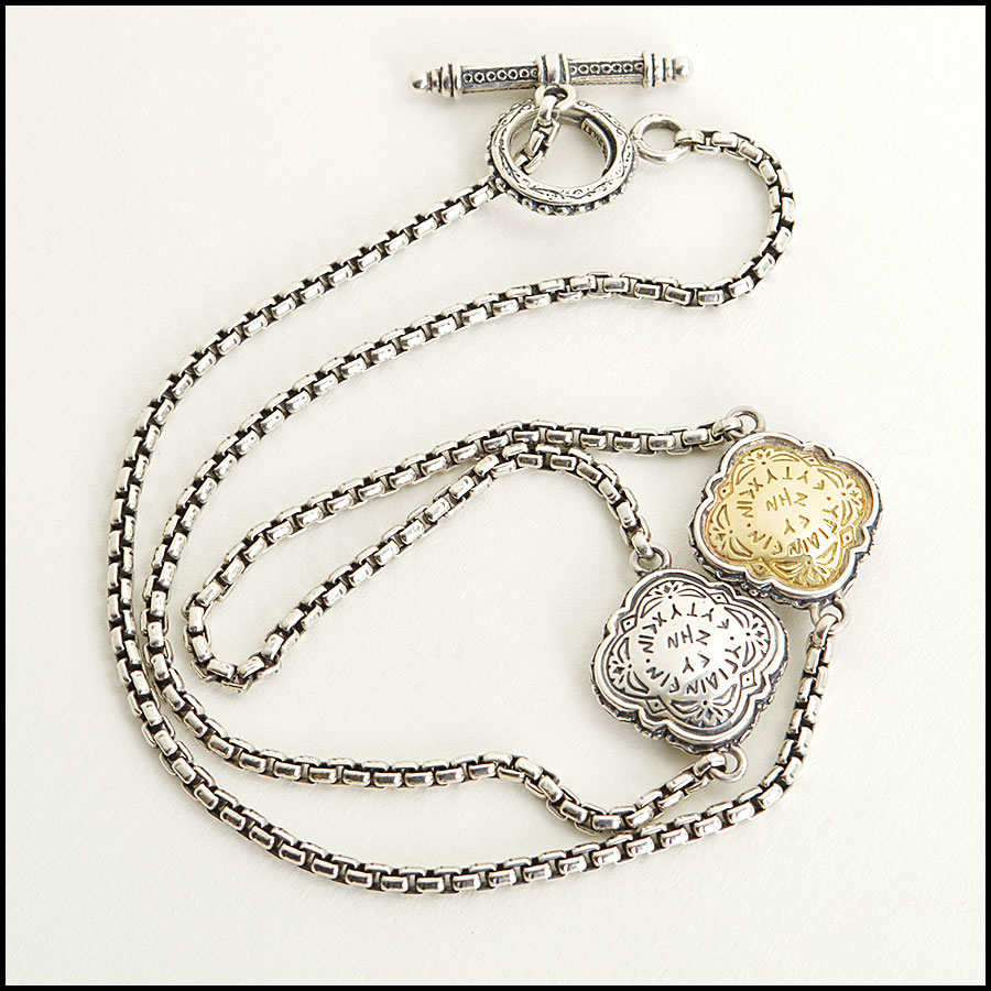 RDC8593 Konstantino Silver and Gold Necklace