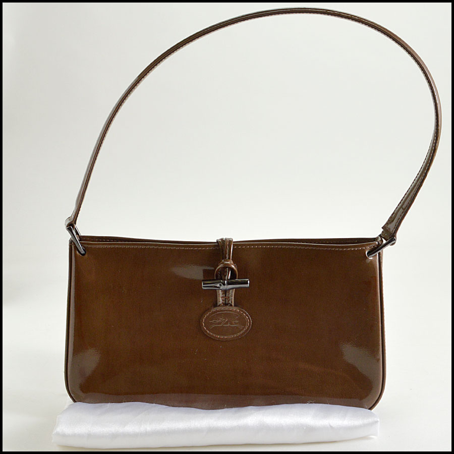 RDC8370 Longchamp Patent leather shoulder bag