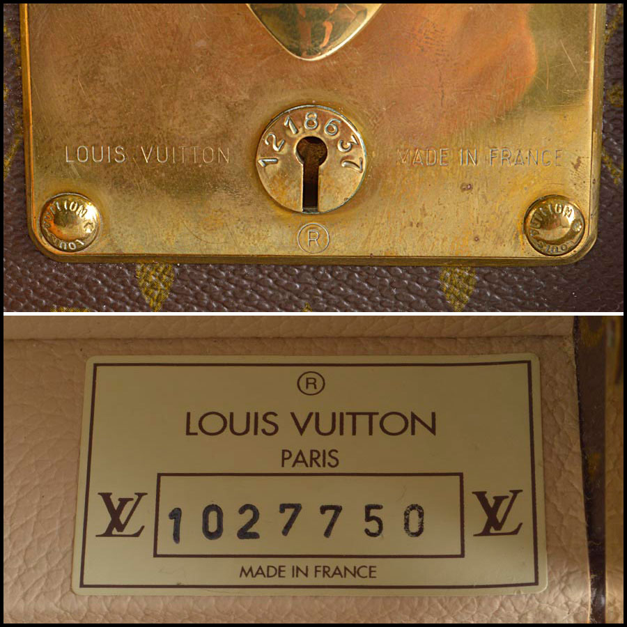 RDC8289 Louiv Vuitton Monogram Bisten 50 Hardcase tag