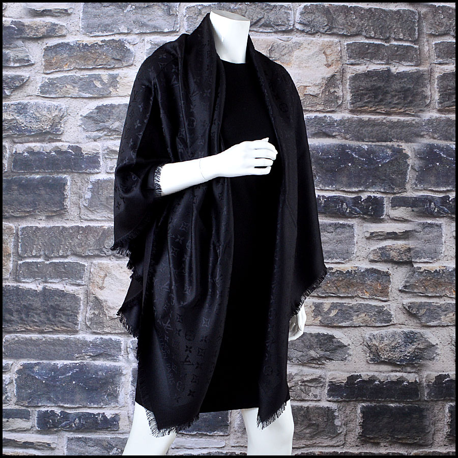 Louis Vuitton Black Monogram Shawl mannequin