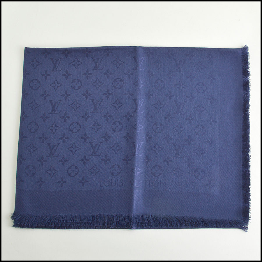RDC8556 Louis Vuitton LV Monogram Night Blue Shawl