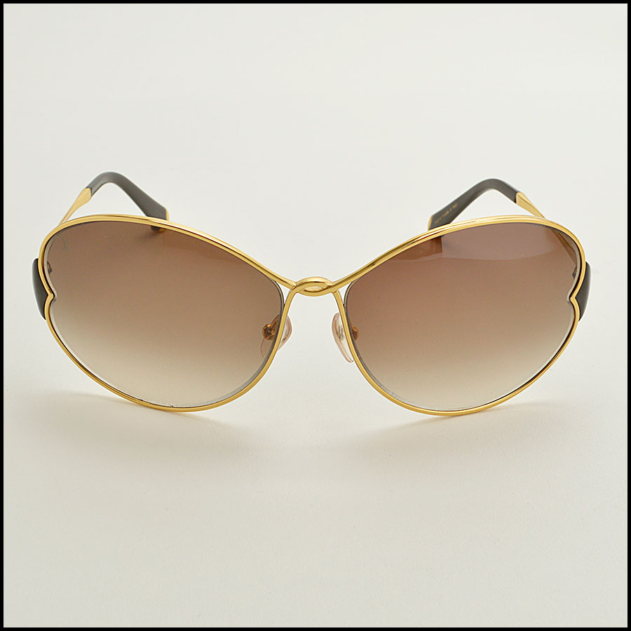 RDC8384 Louis Vuitton brown and gold daisy sunglasses
