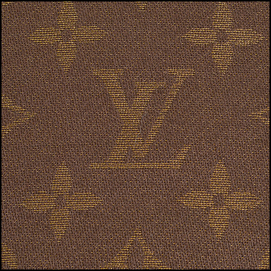 RDC8406 Louis Vuitton LV Monogram Brown Shine Shawl cu