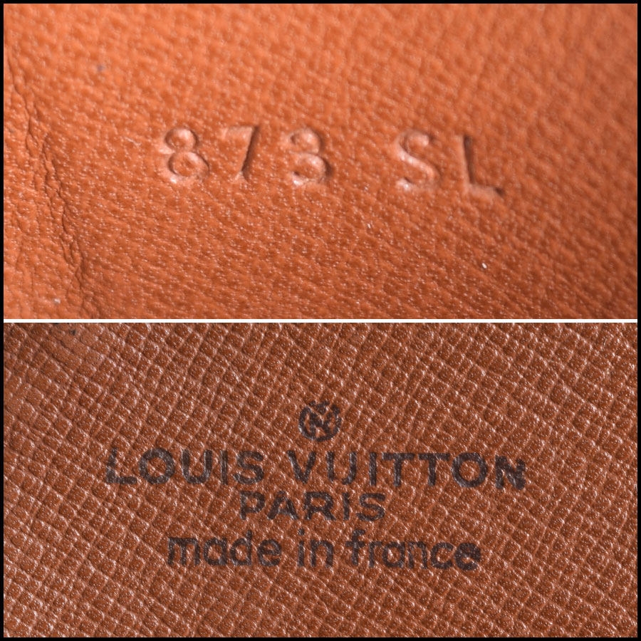 RDC9625 Louis vuitton LV Monogram Cartouchiere MM tag