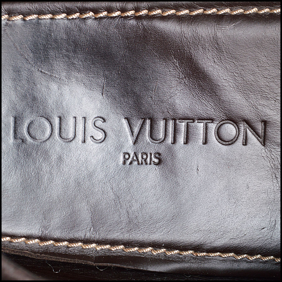 RDC8639 Size 9.5 Louis Vuitton Brown Suede Driving Moccasins tag 1
