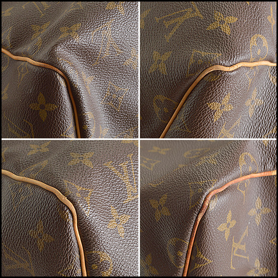 RDC8443 Louis Vuitton LV Monogram Keepall 55 Bandouliere corners