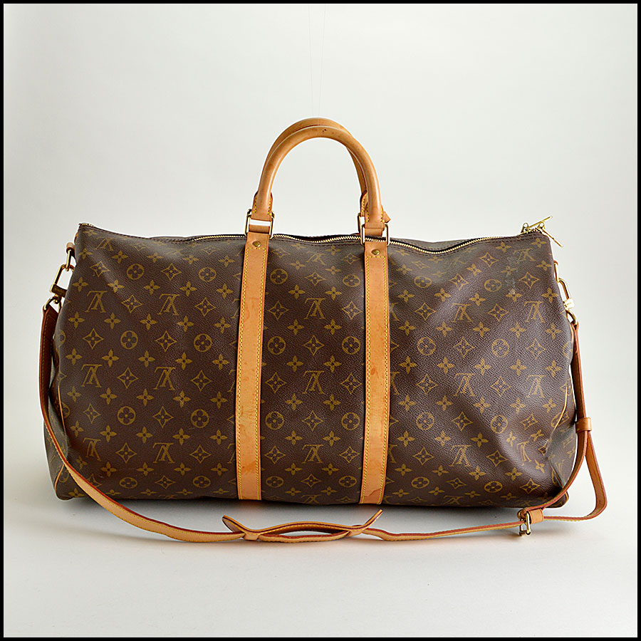 RDC8443 Louis Vuitton LV Monogram Keepall 55 Bandouliere back