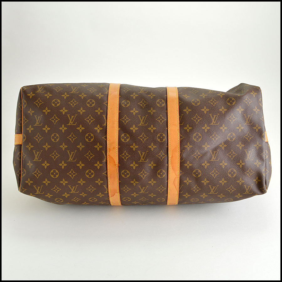 RDC8443 Louis Vuitton LV Monogram Keepall 55 Bandouliere bottom