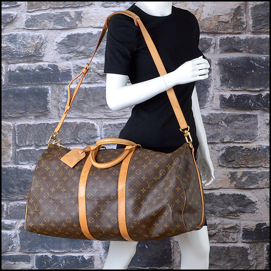 RDC8443 Louis Vuitton LV Monogram Keepall 55 Bandouliere model