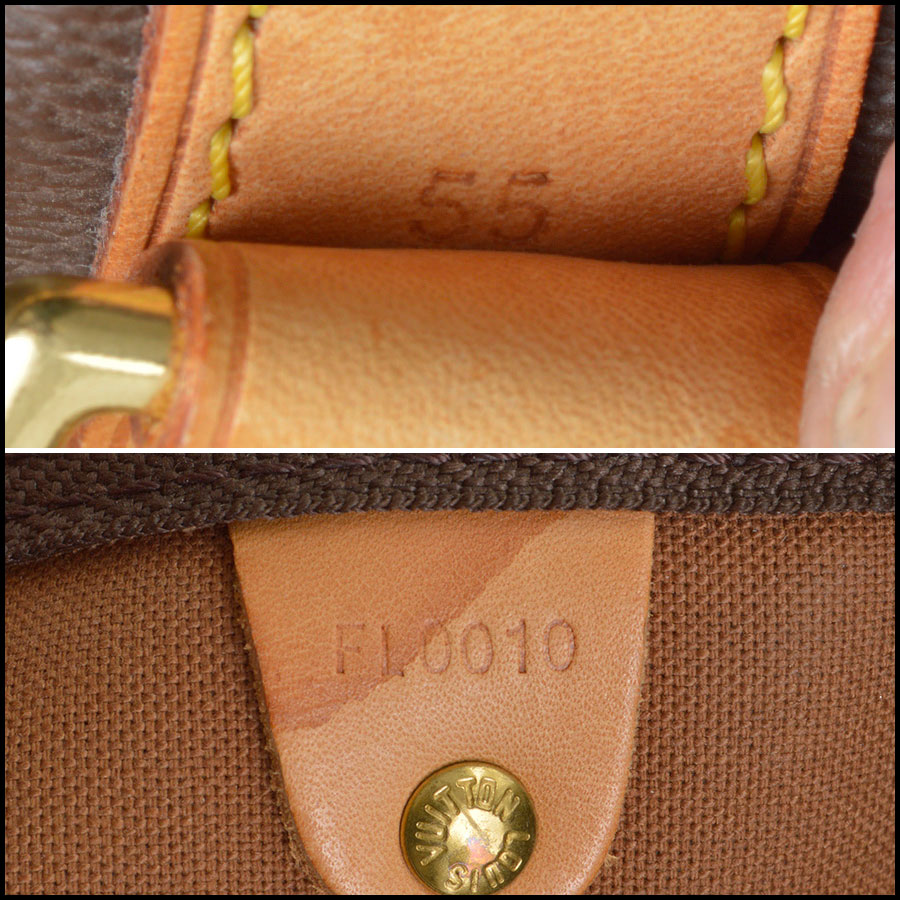 RDC8443 Louis Vuitton LV Monogram Keepall 55 Bandouliere tag 2