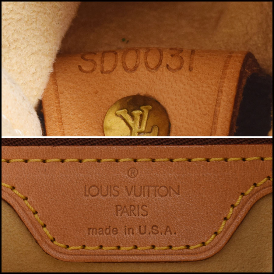 RDC9622 Louis Vuitton LV Monogram Looping GM tag