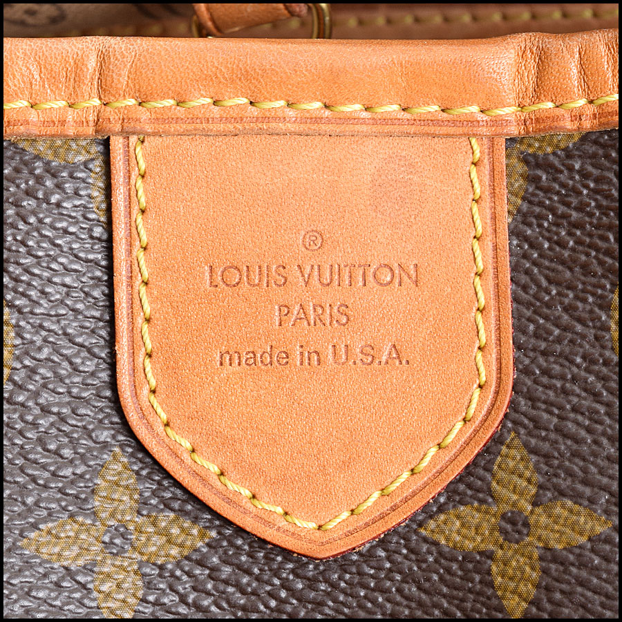 RDC9636 Louis Vuitton LV Monogram Delightful MM Hobo Bag tag 1