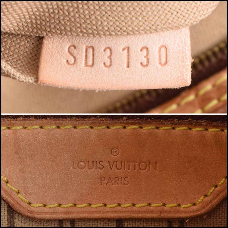 RDC9636 Louis Vuitton LV Monogram Delightful MM Hobo Bag tag 2