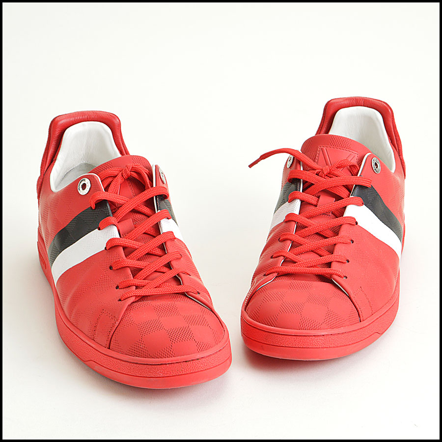 RDC8564 Louis Vuitton Red Damier Sneakers