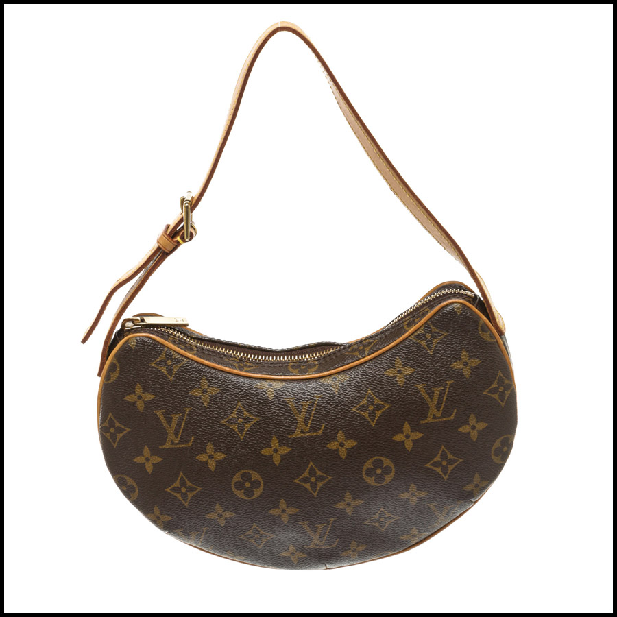 RDC7872 Louis Vuitton Monogram Canvas Leather Croissant PM