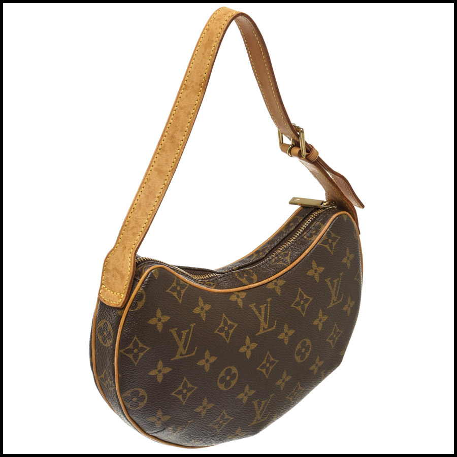 RDC7872 Louis Vuitton Monogram Canvas Leather Croissant PM back