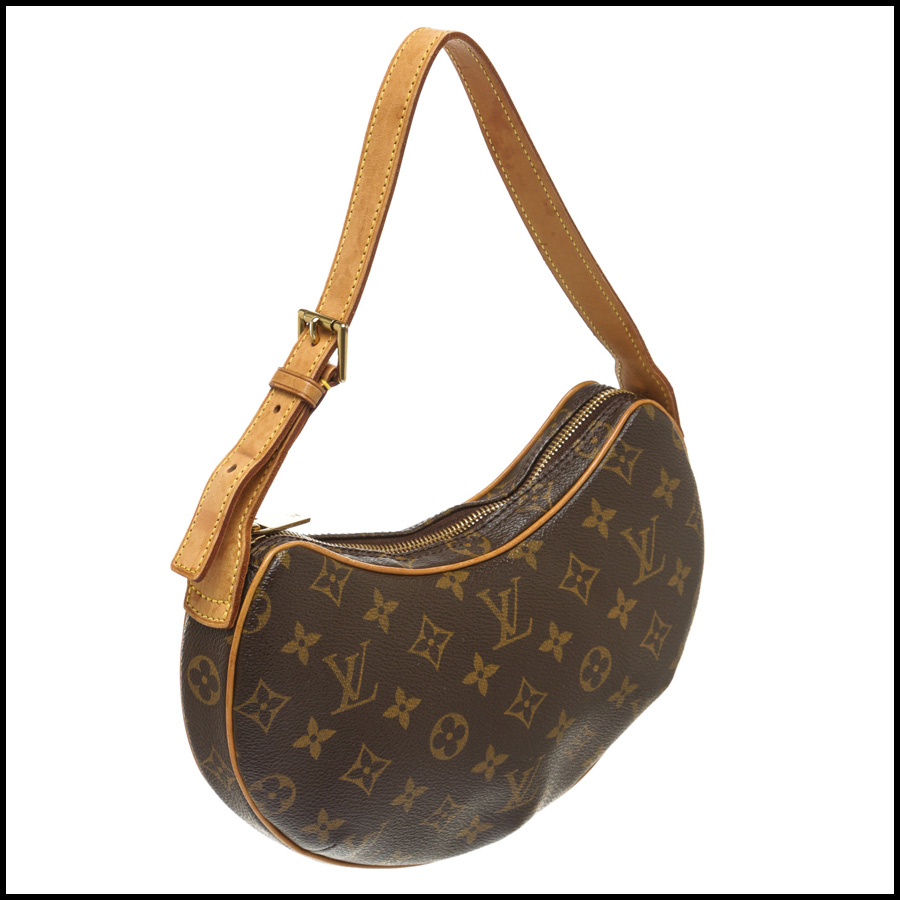 RDC7872 Louis Vuitton Monogram Canvas Leather Croissant PM side 1