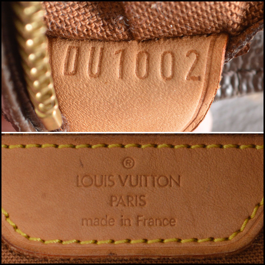 RDC7912 Louis Vuitton Canvas Mezzo Tote tag one