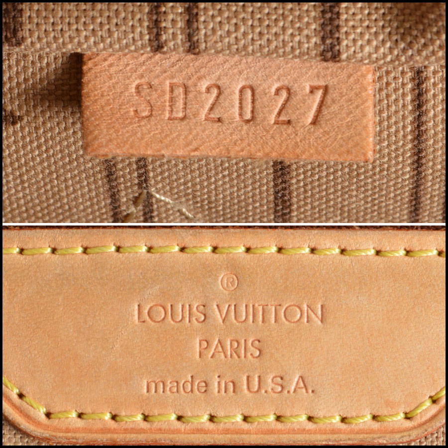 RDC7862 Louis Vuitton LV Monogram Canvas Neverfull MM Tote tag one