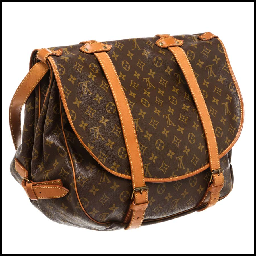 RDC7870 Louis Vuitton Monogram Canvas Saumur 43cm back