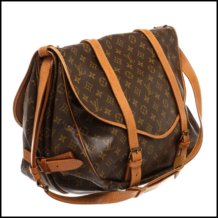 RDC7870 Louis Vuitton Monogram Canvas Saumur 43cm side 1