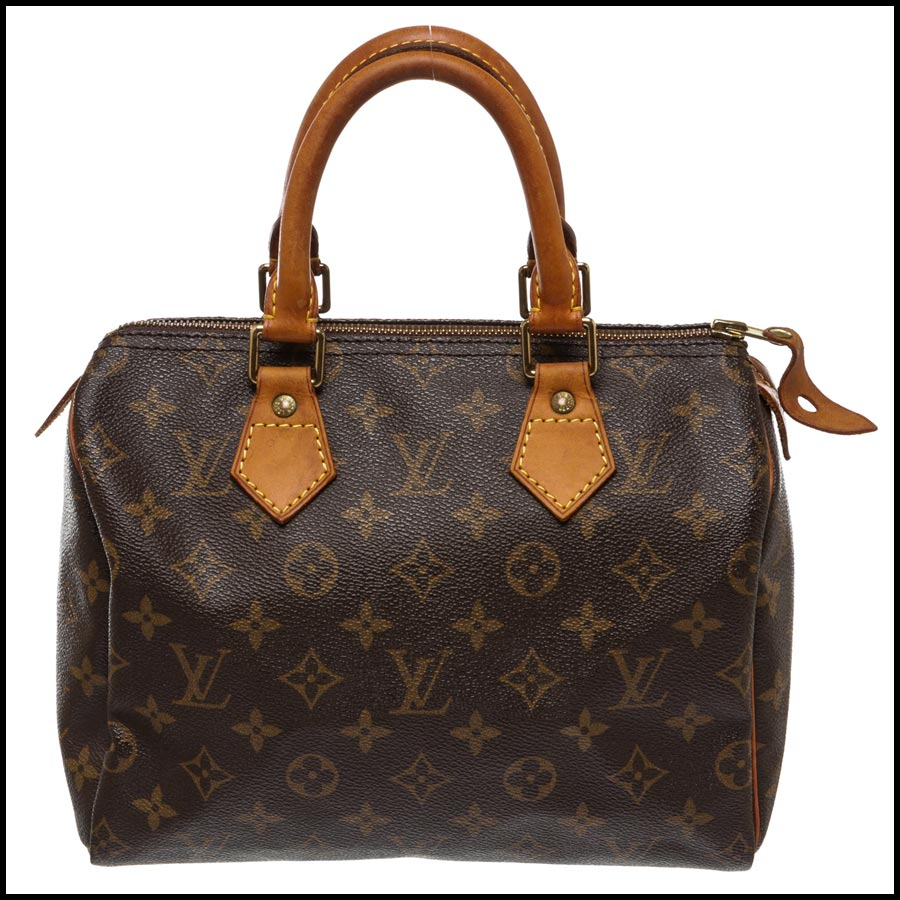 Louis Vuitton Monogram Canvas Leather Speedy 25cm Satchel