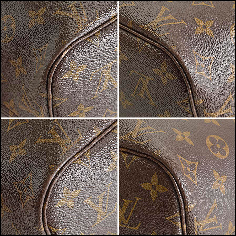 RDC8186 Louis Vuitton LV Monogram Neverfull MM Tote corners