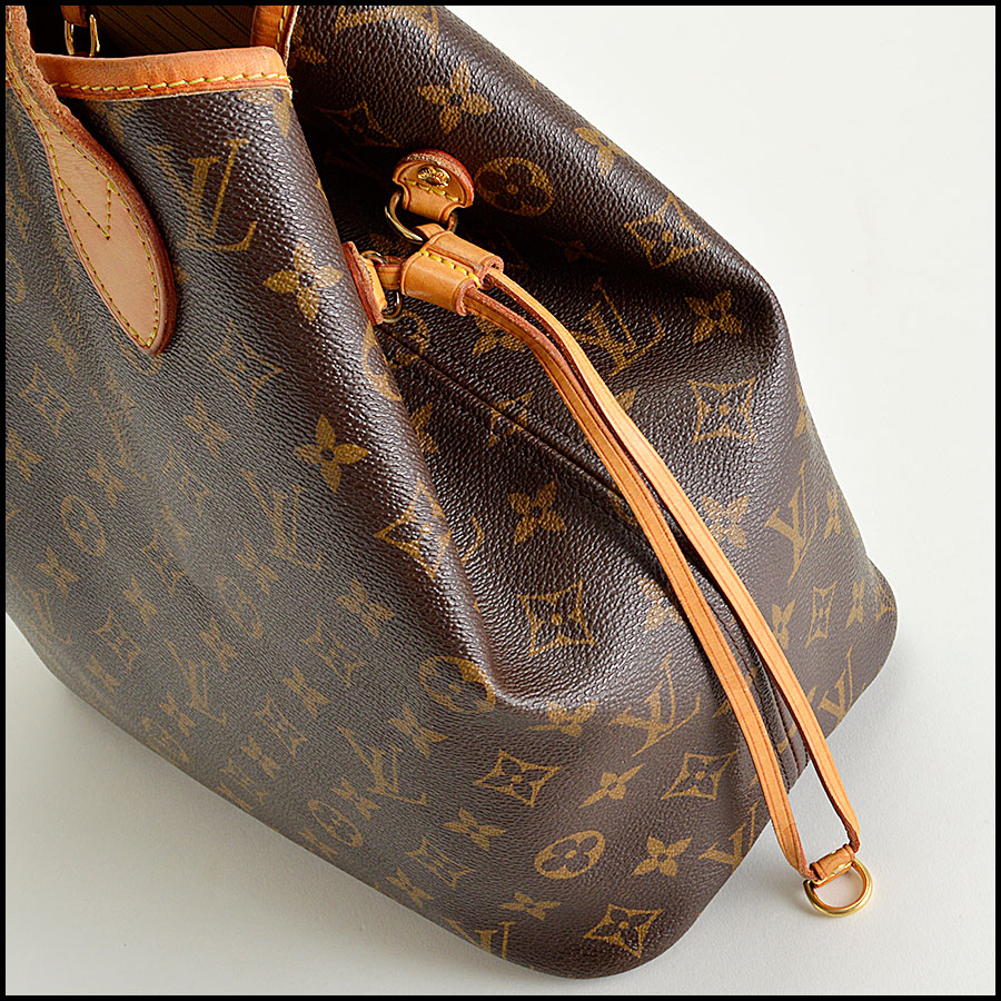 RDC8186 Louis Vuitton LV Monogram Neverfull MM Tote side