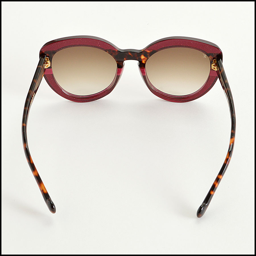 RDC8204 Louis Vuitton Shimmer Peony Stripe and Tortoise Sunglasses back